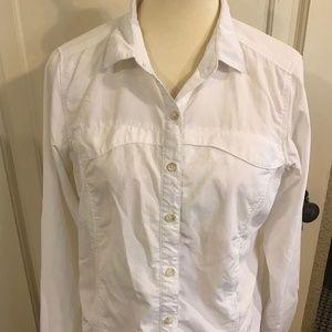 REI Exofficio Insect Shield L (12-14) white shirt